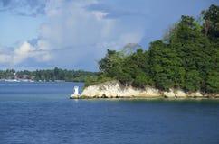 La casa leggera dell'isola di Havelock, Port Blair, isole Andaman e Nicobar fotografie stock libere da diritti