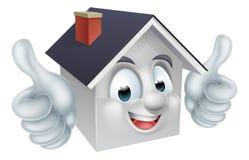 La casa manosea con los dedos encima de carácter del hombre Imagen de archivo