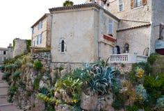 La casa medievale a Antibes Immagini Stock