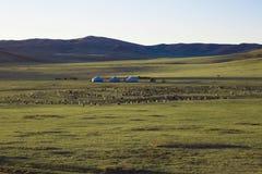 La casa mongol es llamada GER Foto de archivo libre de regalías