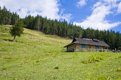 La casa nella foresta Immagini Stock Libere da Diritti