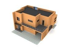 La casa privada moderna 3d exterior rinde Fotografía de archivo libre de regalías