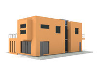 La casa privata moderna 3d esterno rende royalty illustrazione gratis