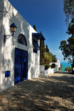 La casa ricca tipica in Sidi Bou ha detto Fotografia Stock Libera da Diritti