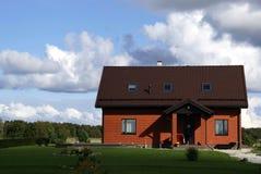 La casa roja Imagenes de archivo