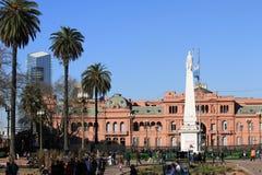 La Casa Roja in het Stadscentrum van Buenos aires, Argentinië Stock Foto's