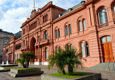 La Casa Rosada. Is the seat of executive power in Argentina. Within it is the office of President of Argentina. Wikipedia Royalty Free Stock Image