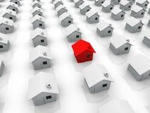 La casa rossa illustrazione di stock