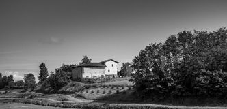 La casa rurale in Italia. A landscape taken in Italy somewere on the road between Milan and Turin Stock Photos