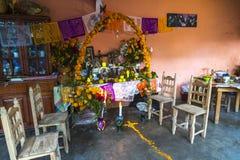 La casa si altera durante la Dia de Muertos Fotografia Stock Libera da Diritti