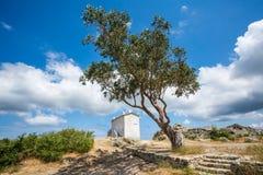 La casa sulla collina a Baccialu in Corsica Immagine Stock