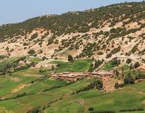 La casa sulla montagna nel Marocco Fotografia Stock