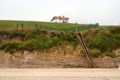 La casa sulla spiaggia Fotografie Stock