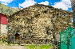 La casa tradizionale di Svan Immagini Stock