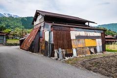 La casa vieja adentro Shirakawa-va Imagenes de archivo