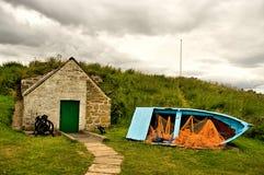 La casa vieja del hielo en Findhorn Foto de archivo libre de regalías