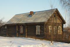 La casa in villaggio Fotografia Stock Libera da Diritti