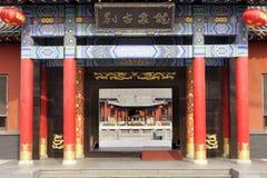 La casa y el pabellón del jardín chino Fotos de archivo libres de regalías