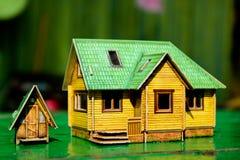 La casa y el retrete Imágenes de archivo libres de regalías
