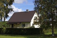 La casa y las plantas Fotografía de archivo