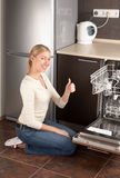 La casalinga felice Fotografie Stock