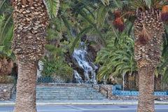 La cascada artificial Loutraki Fotos de archivo