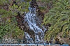 La cascada artificial Loutraki Imágenes de archivo libres de regalías