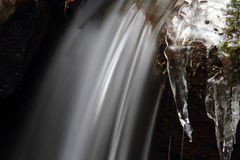 La cascada congelada Imagenes de archivo