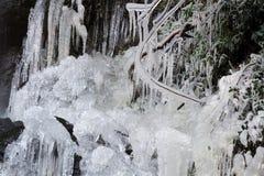 La cascada congelada Foto de archivo