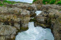 La cascada de Barnafoss Foto de archivo libre de regalías