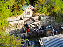 La cascada de Otowa en el templo de Kiyomizu, Kyoto, Japón Foto de archivo