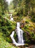 La cascada de Triberg en Alemania, bosque negro Foto de archivo libre de regalías