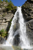 La cascada del santo Petronilla en Biasca Fotos de archivo