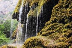 La cascada del zontik en el barranco de Hunot Fotos de archivo