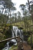 La cascada en Apatlaco Foto de archivo