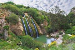 La cascada en Israel septentrional Fotos de archivo libres de regalías