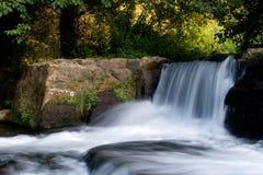 La cascada en Monte Gelato Fotografía de archivo