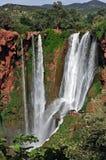 La cascada es un monumento natural, protegido por la UNESCO marruecos imagen de archivo