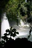 La cascade à écriture ligne par ligne de duden antalya photo libre de droits