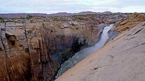 La cascade d'Augrabies en rivière orange de Gariep dans la province de cap de Norht NRE de l'Afrique du Sud image libre de droits
