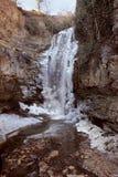 La cascade d'hiver dans les figues de Legvtakhevi se gorgent dans la vieille ville dans la ville de Tbilisi, la Géorgie Image stock