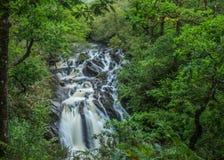 La cascade dans la forêt, Lochy tombe, l'Ecosse photo stock