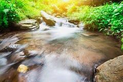 La cascade dans la forêt Thaïlande et se refroidissent Image libre de droits