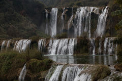 La cascade de Jiulong (dragon neuf) image libre de droits