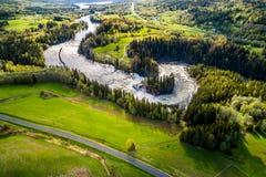 La cascade de Ristafallet dans la partie occidentale de Jamtland est énumérée Photo libre de droits