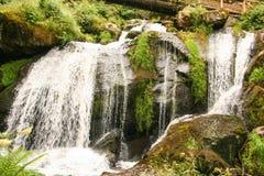 La cascade de Triberg en Allemagne, forêt noire Photo stock