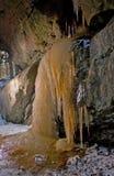 La cascata congelata Immagini Stock
