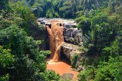 La cascata del cioccolato Fotografie Stock