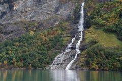 La cascata del corteggiatore Fotografia Stock