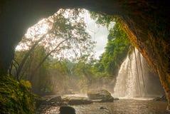 La cascata di Haew Suwat da frana il parco nazionale di Khao Yai, Tailandia Fotografia Stock Libera da Diritti